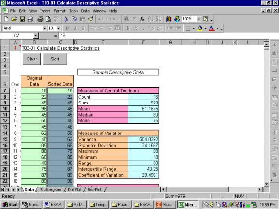 ESAP using Excel